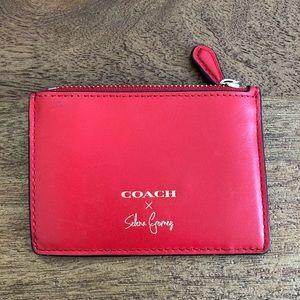 Coach Selena Gomez mini wallet with key ring